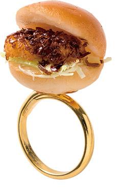 ↑約2センチほどのコロッケパンのリング。彼女へのプレゼントに良さそう
