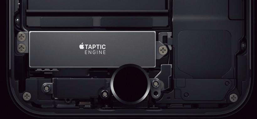 """↑Tapticエンジンが内蔵され、振動で""""押し込み感""""を再現する"""