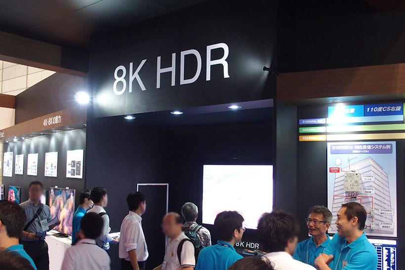 ↑8K HDR映像の展示