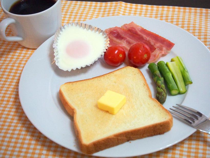 ↑約6分でモーニングセットが完成!忙しい朝もきちんと食事が摂れるのがうれしいですね