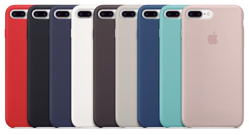 ↑純正シリコーンケースは9色もカラーを用意。7用4104円、7 Plus用4536円