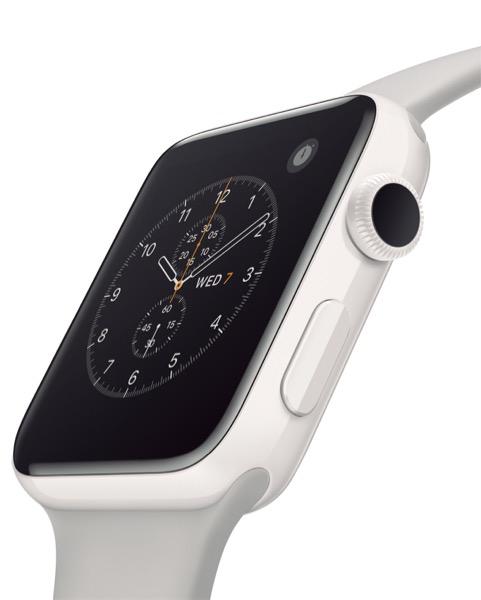 Apple Watch Edition ホワイトセラミックケースとクラウドスポーツバンド 13万5864円(38㎜) 14万1264円(42㎜)