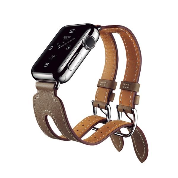 Apple Watch Edition ステンレススチールケースとヴォー・スウィフト(エトゥープ)ダブルバックル・カフレザーストラップ 16万6104円