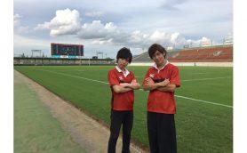 史上初ラグビーアニメ「ALL OUT!!」 千葉翔也、安達勇人が聖地・花園ラグビー場に感激