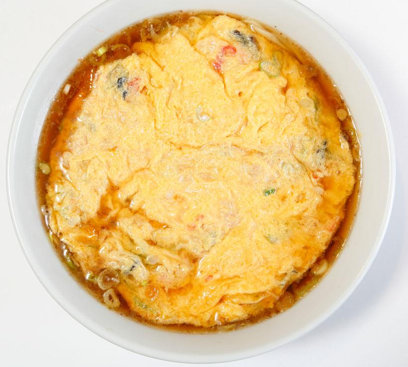 ↑天津麺(左) 800円