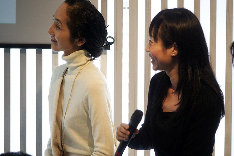 ↑山田てるみさんと小川奈々さんによるトークショウを開催