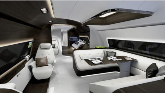 空飛ぶベンツ!? メルセデスが考えた超豪華な飛行機のインテリアを公開!