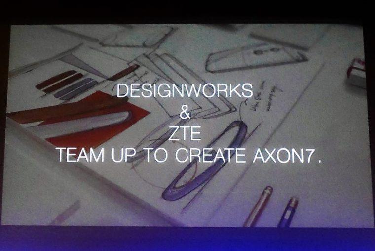 ↑ZTEのAXON 7はBWMの子会社「Designworks」と協業してデザインが設計された