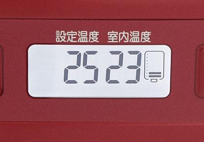 ↑液晶画面には8段階の油量モニターが。燃料の残量がひとめでわかるので、タンクを開けずに給油タイミングがわかります