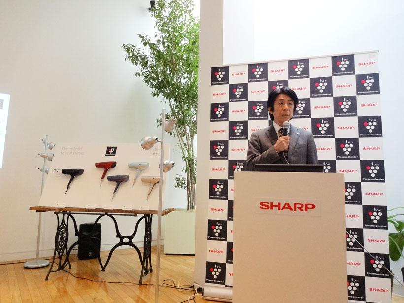 ↑シャープ 健康・環境システム事業本部 空調・PCI事業部、冨田昌志氏