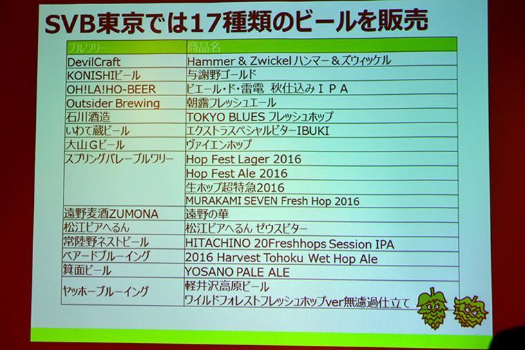 ↑東京会場では17種類のビールが販売されました