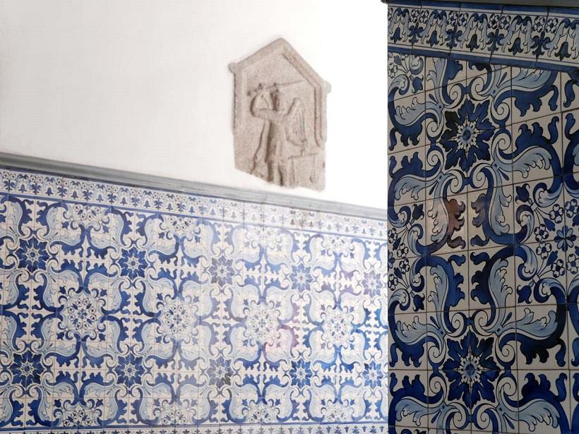 ↑壁面に貼られているポルトガル製タイルは中国・白磁の影響を受けているとも言われる