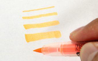 ↑指先の感覚で線の太さを自由に変えられる