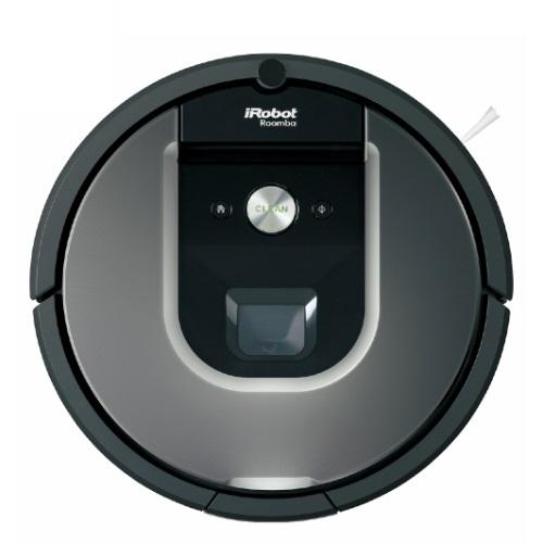 ↑iRobotの「ルンバ 960」(実売9万7070円)は、同社の最上位シリーズの最新型。本体に搭載したカメラと、フロアトラッキングセンサーなど 多彩なセンサーでフロア全体を把握して清掃します