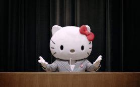 """""""ハローキティ社長""""がかわいいむちゃぶり!? フコク生命新CM 10・26放映開始"""