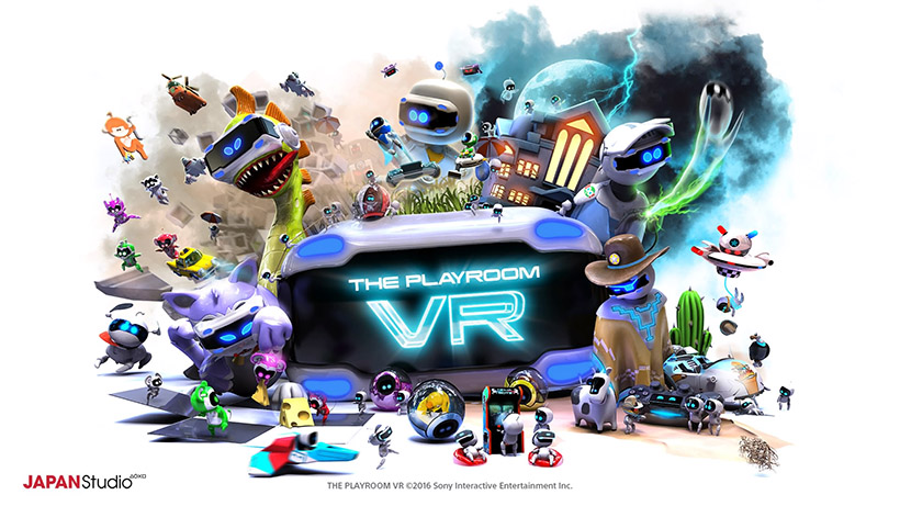 ↑Playstation4にデフォルトで入っているPLAY ROOMのVR版「THE PLAYROOM VR」