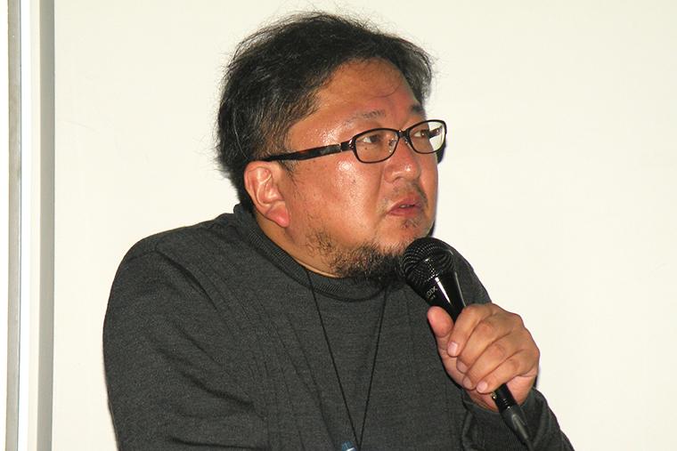 ↑この日のゲストの樋口真嗣監督。近年の代表作は「シン・ゴジラ」「進撃の巨人 ATTACK ON TITAN」「のぼうの城」など