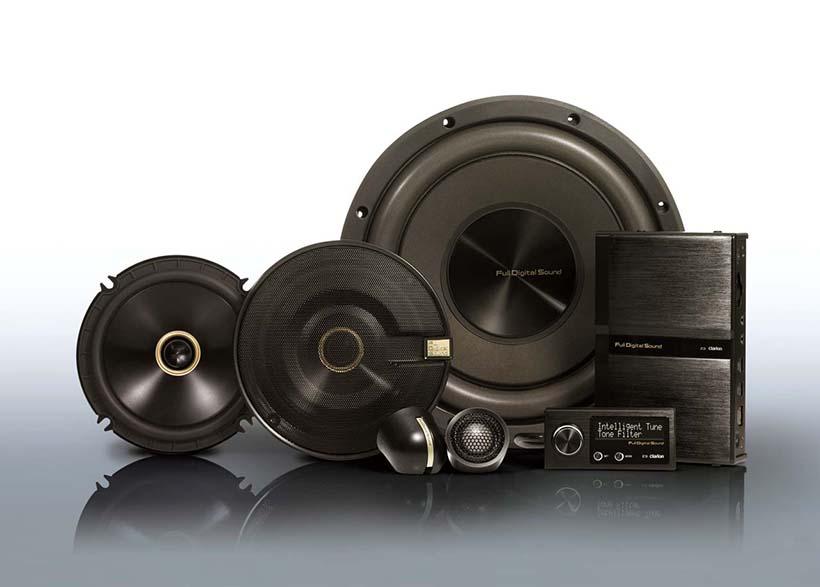 ↑クラリオンが今春発売した車載用フルデジタルサウンドシステム