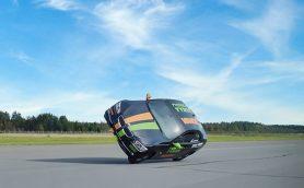片輪で爆走したら……なんと時速186km! ノキアンタイヤがギネス世界記録を更新【動画】