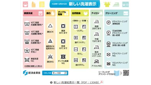 洗濯表示が22種類から国際規格の41種類に変更ーーまるでパズルゲームの暗号のように!