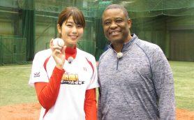 """目指せ110km! 稲村亜美の次なるコーチは""""伝説の助っ人""""ウォーレン・クロマティ"""