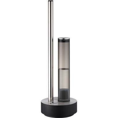 ↑超音波式の加湿器、カドーの「HM-C610S-BK」(実売価格4万5900円)。85.5cmの位置からのミスト吹き出しで部屋全体を効率よく加湿します