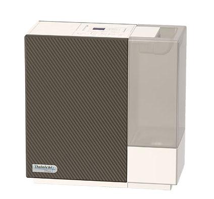 ↑ダイニチのハイブリッド加湿器「HD-RX316」(実売価格1万8140円)。動作音は最大でも30dBと静音性が極めて高く、取っ手付きで持ち運びがラク