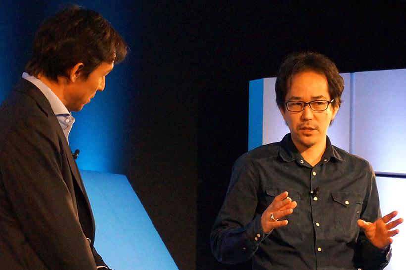 ↑来年3月に公開される「ひるね姫」の監督 神山健治氏は、同作の製作は絵コンテからフルデジタルで行ったと語りました