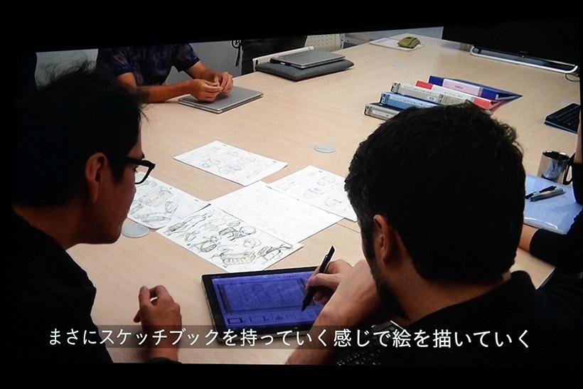 ↑↑アニメーション映画「ひるね姫」はVAIO Z Canvasを使用して、絵コンテや作画、動画の制作まで、全てデジタルで行われました
