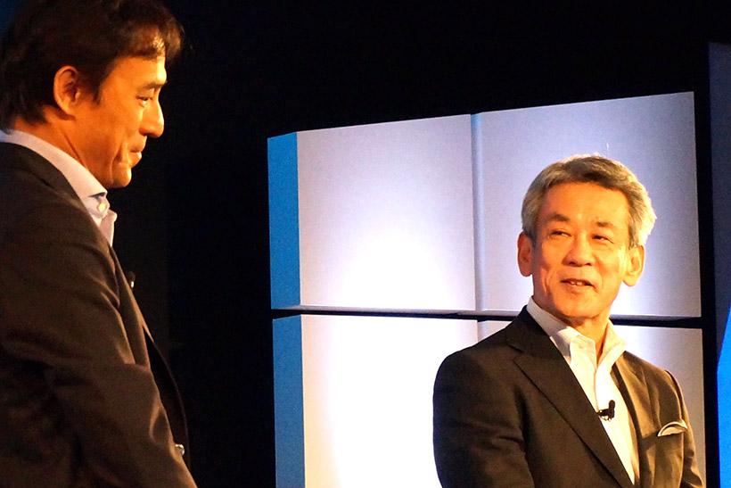 ↑株式会社スクウェア・エニックスの橋下慎司氏が登壇し、Xbox Oneでもリリースされる「FINAL FANTASY XV」について語りました