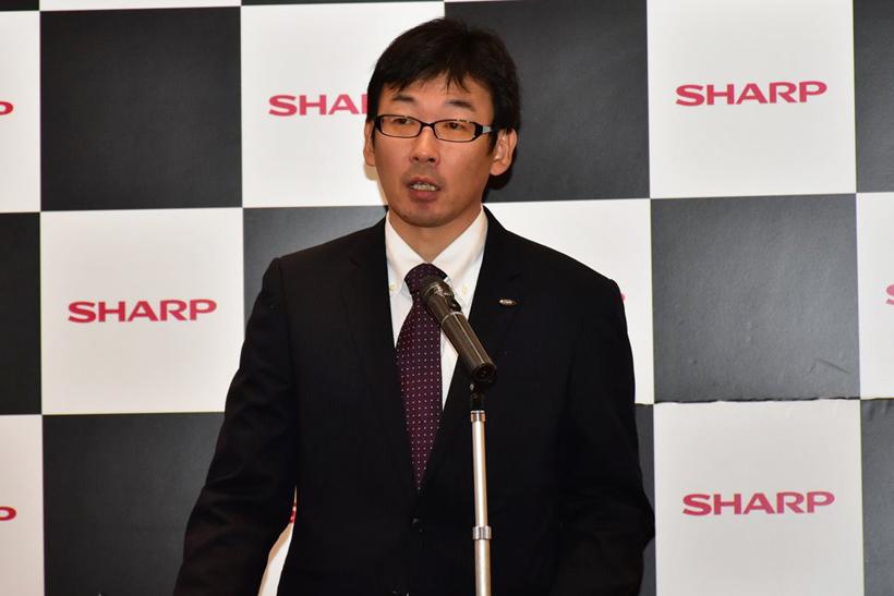 ↑シャープ 健康・環境システム事業本部 スモールアプライアンス事業部 商品企画部 チームリーダーの奥田哲也氏
