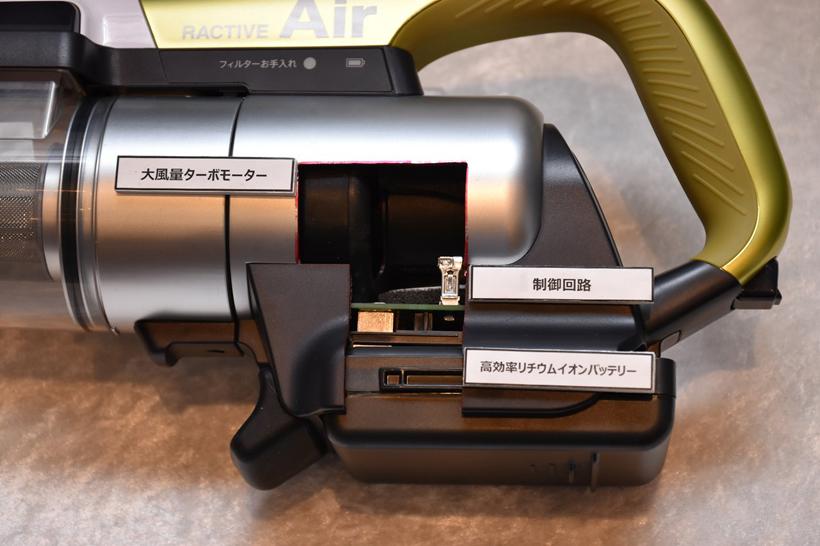 ↑RACTIVE Airのカットモデル。EC-SX520と同じモーターを採用しています