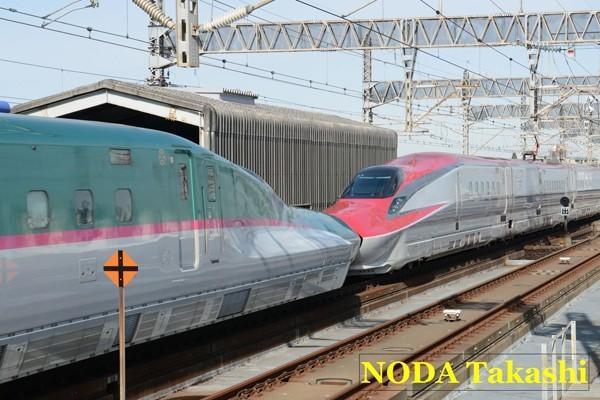 ↑E5系はやぶさとE6系こまち併結列車
