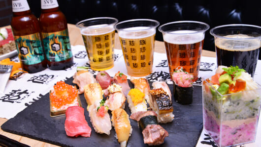 「回転鮨 清次郎」「うまい鮨勘」が今週末に代官山上陸! クラフトビールと合わせれば満足度は想像の斜め上