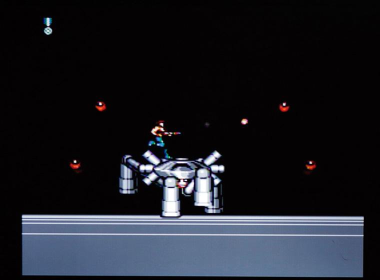 ↑23面の中ボスはクモのような 「烈撃六連機動砲スパイダル」。 機械と生物が融合したデザイ ンがカッコいい