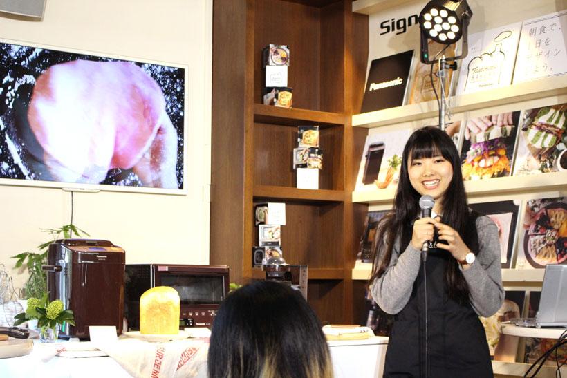 ↑今回のレシピを開発したTastemadeの堀川藍さん。美大生の頃から食とアートの融合をテーマにした作品を製作
