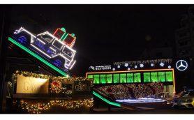 直径10mのクリスマスリースは一見の価値アリ!メルセデス・ベンツのブランド体験施設がクリスマス仕様に大変身