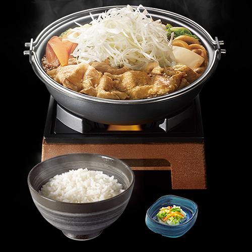↑北海道豚味噌鍋膳 並盛/680円 大盛780円
