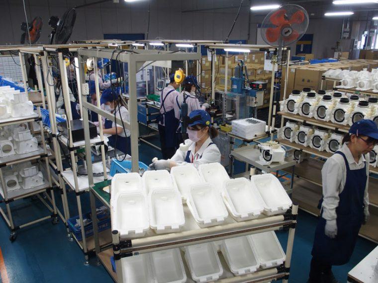 ↑工場は女性工員が多いとのこと。細やかな仕事は女性の方が得意のようです