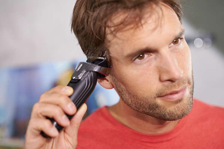 ↑ヘアートリミング用コームは、3~20mmの長さに1mm刻みで調節できます