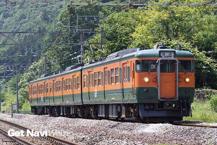 ↑北関東の115系は全車が湘南色で塗られている。上越線・吾妻線ではまだ115系が使われる確率が高い
