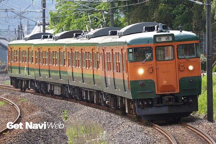 ↑信越本線の高崎〜横川間を走る115系。4両編成の115系は3両編成に比べ早く消えていきそうだ