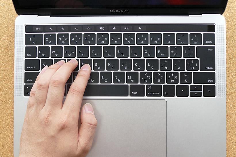 ↑MacBook Proのキーボード