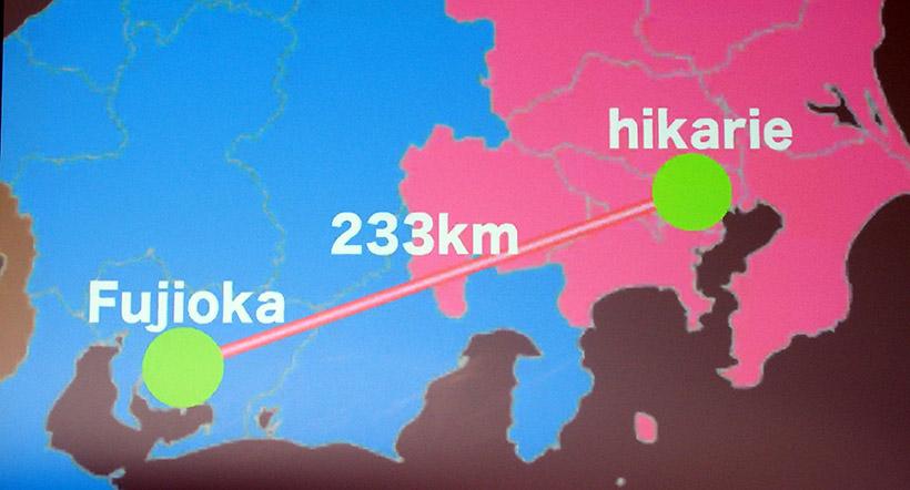 ↑東京―愛知間で遠隔操作