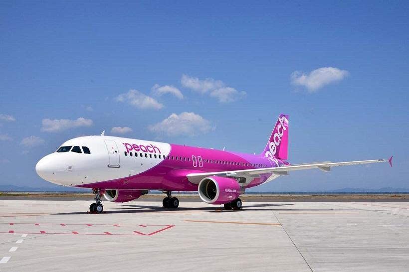↑羽田→台北(桃園国際空港)路線を就航するPeach。より手軽に台湾へ行けるようになった