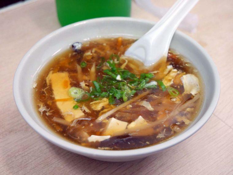 ↑ほどよい酸味の酸辣湯