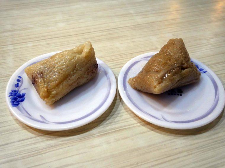 ↑豚肉入りチマキ「湖州粽」(50元)