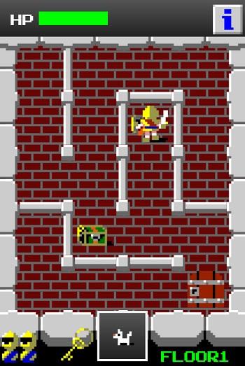 ↑宝箱にタップすると、ギルは自動で宝箱まで移動します