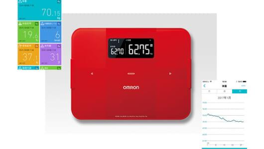 「いつ太っていつ痩せたか」小さな変化を手軽にチェック! データをスマホで管理&乗るだけで「誰か」を推定するオムロン体組成計
