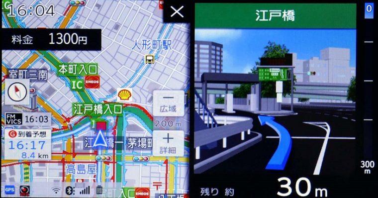 ↑入口付近が分かりにくいことが多い都市高速入口では詳細なイラストでガイド